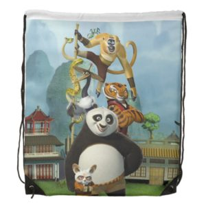 Furious Five Stacked Drawstring Bag