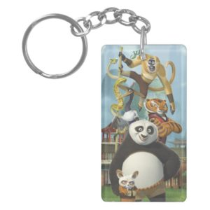 Furious Five Stacked Keychain