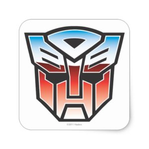 G1 Autobot Shield Color Square Sticker