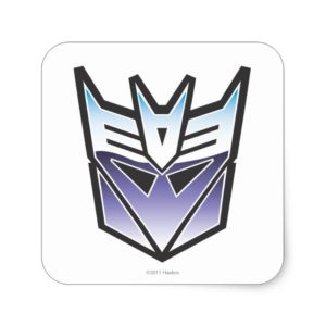 G1 Decepticon Shield Color Square Sticker