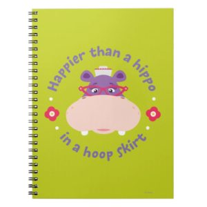 Hallie -Happier Than a Hippo in a Hoop Skirt Notebook