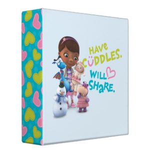 Have Cuddles Will Share 3 Ring Binder