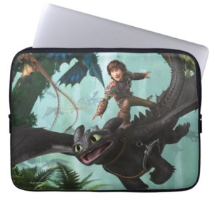 """Hiccup Riding Toothless """"Dragon Rider"""" Scene Computer Sleeve"""
