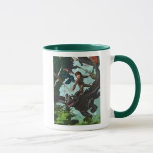 "Hiccup Riding Toothless ""Dragon Rider"" Scene Mug"
