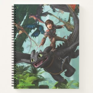 """Hiccup Riding Toothless """"Dragon Rider"""" Scene Notebook"""