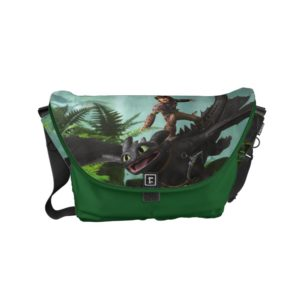 """Hiccup Riding Toothless """"Dragon Rider"""" Scene Small Messenger Bag"""