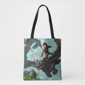 """Hiccup Riding Toothless """"Dragon Rider"""" Scene Tote Bag"""