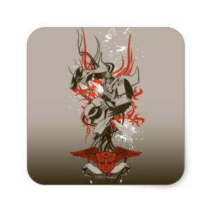 Hot Rod - Tribal Burst Square Sticker