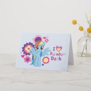 I Heart Rainbow Dash Card