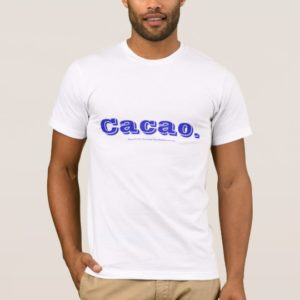 Cacao. White Basic American T-Shirt