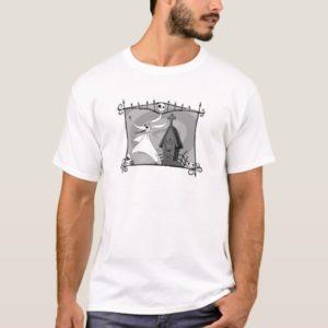 Nightmare Before Christmas   Zero in Cemetery T-Shirt