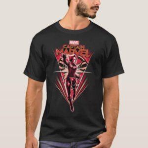 Captain Marvel | Shining Captain Marvel Badge T-Shirt