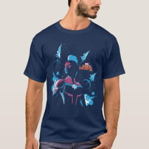 Captain Marvel | Silhouette Pose With Jets T-Shirt