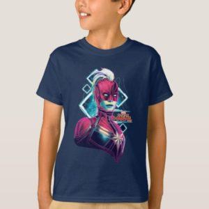 Captain Marvel | High Tech Glowing Character Art T-Shirt