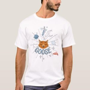Captain Marvel   Goose In Space Illustration T-Shirt