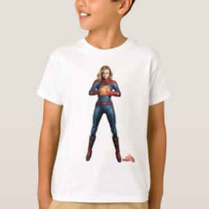 Captain Marvel | Holding Fist Character Art T-Shirt