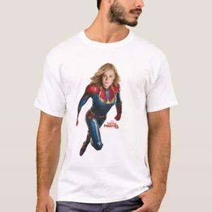 Captain Marvel | Flying Closeup Character Art T-Shirt