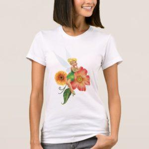 Tinker Bell Resting on Flowers T-Shirt
