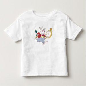 Alice in Wonderland's White Rabbit Running Disney Toddler T-shirt