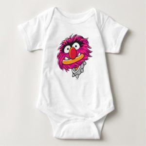 Animal With Collar Baby Bodysuit
