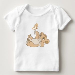 Lion King's Baby Simba Playing Disney Baby T-Shirt