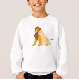 Lion King's Adult Simba and Nala Disney Sweatshirt