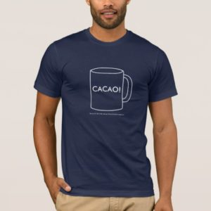 Cacao! Navy Blue Basic American T-Shirt