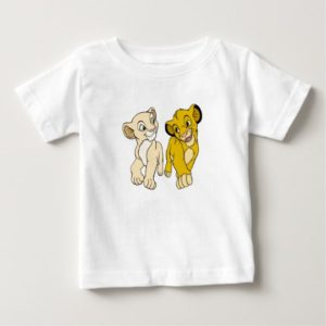 Lion King's Simba & Nala smiling Disney Baby T-Shirt