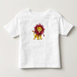Lion King Simba cub mane of pink red leaves Disney Toddler T-shirt