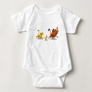 Lion King Simba cub timon pumbaa singing trotting Baby Bodysuit