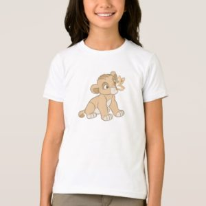 Lion King Simba cub butterfly on nose Disney T-Shirt