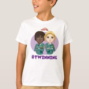Captain Marvel | Maria & Carol #Twinning Cartoon T-Shirt