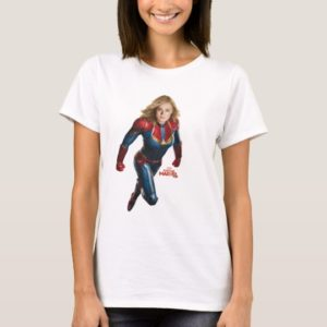 Captain Marvel | Flying Closeup Character Art T-Shirt