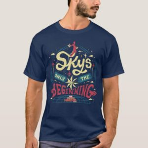 "Captain Marvel | ""Sky's Only The Beginning"" Type T-Shirt"