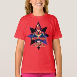 Captain Marvel | Galactic Star Character Graphic T-Shirt