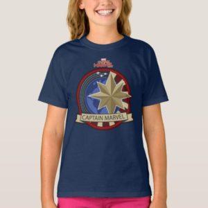 Captain Marvel | Captain Marvel US Military Badge T-Shirt