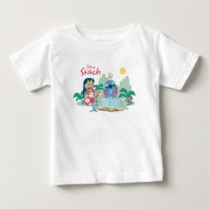 Lilo & Stitch | Reading the Ugly Duckling Baby T-Shirt