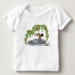 Jungle Book Baloo holding up Mowgli  Disney Baby T-Shirt