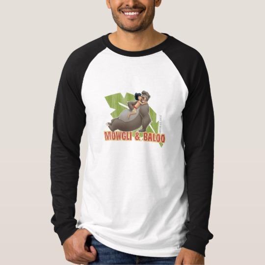 6f6912b40 Jungle Book s Mowgli and Baloo Hugging Disney T-Shirt - Custom Fan Art