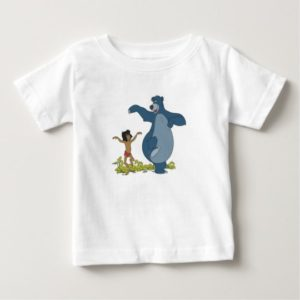 Jungle Book Mowgli and Baloo dancing Disney Baby T-Shirt