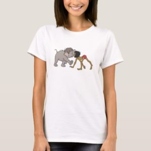 Jungle Book's Mowgli With Baby Elephant Disney T-Shirt
