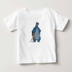 Jungle Book Baloo and Mowgli standing Disney Baby T-Shirt