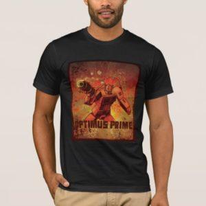 Optimus Prime Floral Grunge T-Shirt