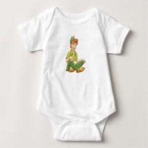 Peter Pan Sitting Down Disney Baby Bodysuit