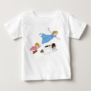 Peter Pan's Wendy, John and Michael Darling Flying Baby T-Shirt