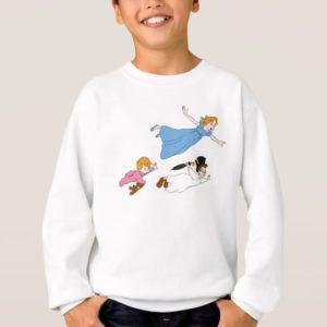 Peter Pan's Wendy, John and Michael Darling Flying Sweatshirt