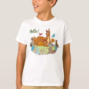 Forest Animals Greeting Prince Bambi T-Shirt