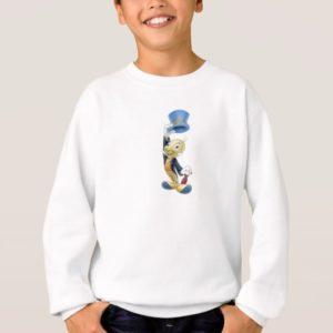 Jiminy Cricket Lifting His Hat Disney Sweatshirt