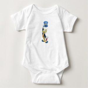 Jiminy Cricket Lifting His Hat Disney Baby Bodysuit