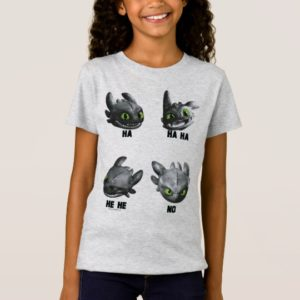 Toothless Face Expression Chart T-Shirt